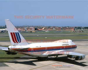 UNITED-AIRLINES-BOEING-747-SP-SYDNEY-20-034-x-16-034-51-x-41-CM-POSTER-PRINT-PICTURE-x