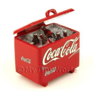 Coke Cooler With Coke Bottles + Ice Doll House Minis