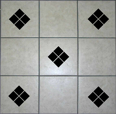 18 Diamond square tile transfer stickers Bathroom kitchen decal waterproof T10