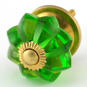 Lg Green Glass Cabinet Knobs Kitchen Drawer Pulls Handles