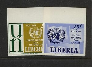 Liberia 403,C144 NH Mint proofs UN stamps imperforate