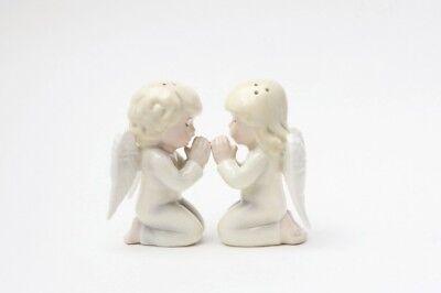 Angels Kneeling Praying Ceramic Magnetic Salt and Pepper Shaker Set Decor Gift