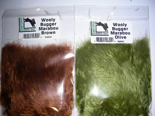 1//4 oz  Fly Tying woolly HARELINE  PREMIUM WOOLY BUGGER STRUNG TURKEY MARABOU