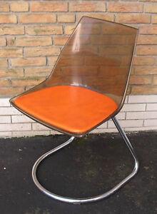 Chrom Orange Jahre 70er Stuhl Um Abholung Bei Designer 1970 CxoerdB