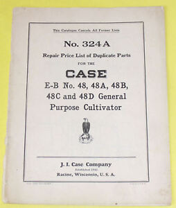1930 48 general purpose cultivator parts list