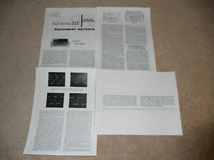 Acoustech I Amplifier Review, 4 pgs, 1963, Full Test