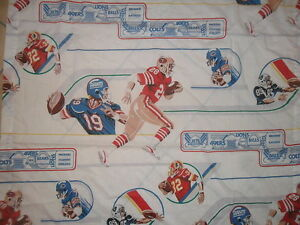 Image Is Loading Vtg NFL FOOTBALL CURTAINS Drapes 70 039 S