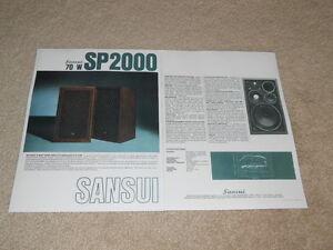 Sansui SP-2000 Speaker Brochure, 2 pg, 1975, Articles
