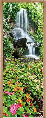 Sticker pour porte plane Chutes d'eau 83x204cm réf 171