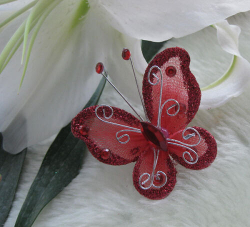 U pick Organza wire butterfly wedding decorations more colors available
