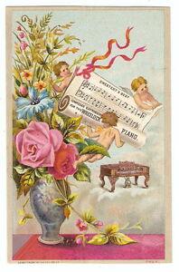 VTC-Trade-Card-WHEELOCK-PIANO-New-York-Sacramento-CA-Cherubs-Angels-Sheet-Music