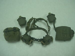 Hot-toys-Biohazard-NBC-Belt-Harness-Canteen-Buckpack-Gas-mask-Pouch-ammo-Pouches