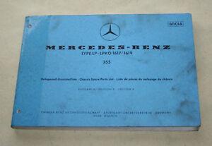 Ersatzteilliste-LKW-Mercedes-LP-1617-LP-1619