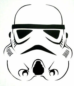 Storm Trooper Stencil For Airbrush Tattoo Craft Art