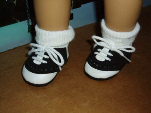 """Saddle Shoes 18/"""" Doll Clothes Fits American Girl Dolls Black and White"""