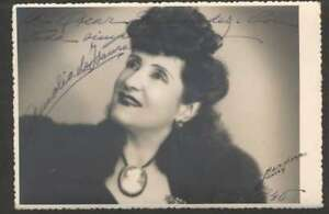 R-Photo-Amalia-De-Isaura-Spain-Actress-Orig-Signed-1945-L-K