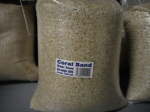 Aquarium Coral Sand 3mm 25kg Marine and Malawi Gravel