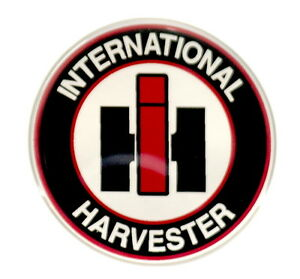INTERNATIONAL HARVESTER EMBLEM ROUND SATIN | eBay