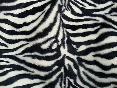 "ANIMAL PRINT VELBOA FAUX FUR VELOUR FABRIC CRAFT MATERIAL 60"" WIDE"