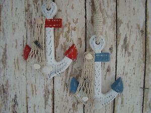 2-Wooden-Anchor-Wall-Hooks-Wood-Nautical-Boat-Decor-Coat-Hat-Keys
