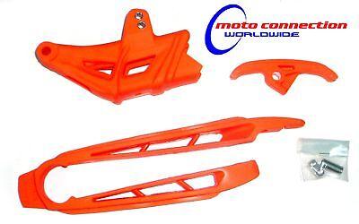 CHAIN GUIDES- FULL KIT ORANGE - KTM EXC 200 250 300 EXCF 250 450 08 -10    4005