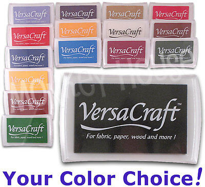 VERSACRAFT All-purpose INKPAD (Perfect for Fabric!) craft ink stamp pad heat-set
