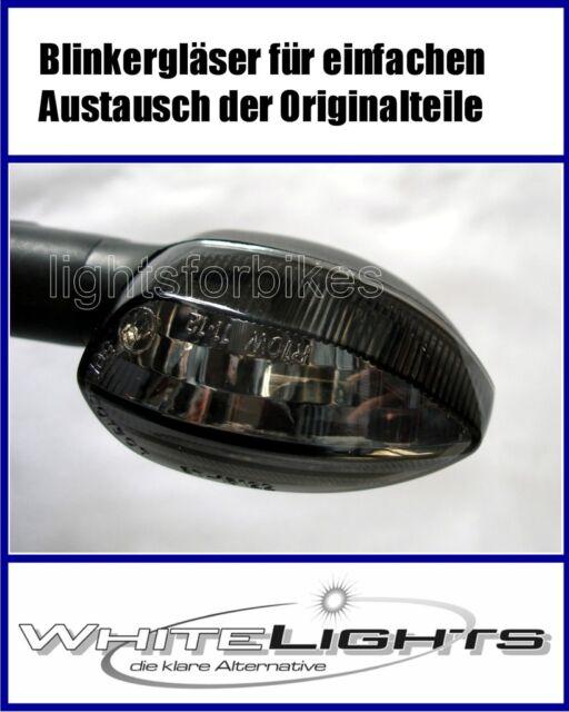 Schwarze Blinker Gläser Yamaha XTZ Super Tenere 1200 smoked signal lenses