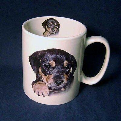Cute Rottweiler Puppy Dog Large Coffee Mug