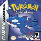 Pokemon: Sapphire Version (Nintendo Game Boy Advance, 2003) - European Version