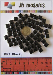 "100pcs Mosaic Tiles Black - BK1 - 3/8"" stock in US"