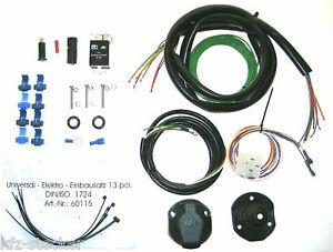 Anhangerkupplung-Elektrosatz-Universal-E-Satz-13pol-Relais-Anhanger-Pkw-AHK-Auto