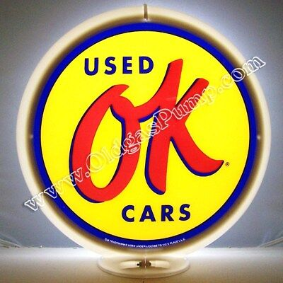 OK USED CARS CHEVROLET PONTIAC GAS PUMP GLOBE FREE S&H G-238