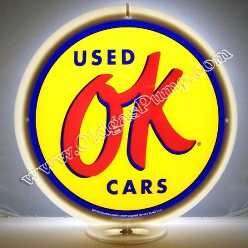 OK USED CARS CHEVROLET PONTIAC GAS PUMP GLOBE FREE S&H