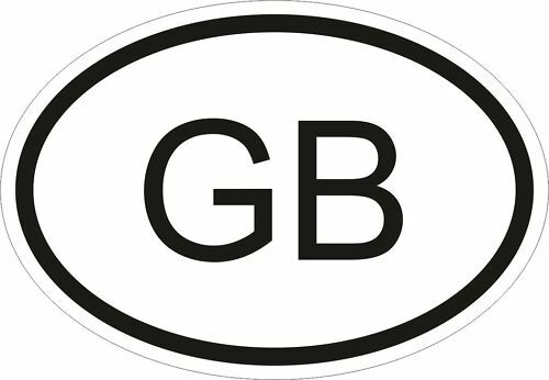GB GREAT BRITAIN COUNTRY CODE OVAL STICKER bumper decal