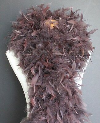 Chocolate Brown 100 Grams Chandelle Feather Boa Dance Party Halloween Costume