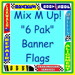 AUTO-REPAIR-CAR-LOTS-6-PAK-FLAGS-Feather-Swooper-Banner