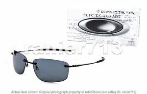 NEW-Oakley-Nanowire-1-0-Sunglasses-Matte-Black-Grey