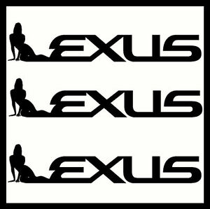 X LEXUS VINYL CAR STICKERS DECALS SEXY FUNNY CUSTOM EBay - Lexus custom vinyl decals for car