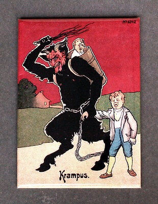 KRAMPUS (04) Fridge Magnet, 3.5 x 2.5 inches, Teufel Demon Krampusnacht
