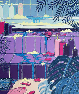 Australian-Artist-Cindy-Wider-039-s-Acrylic-on-canvas-titled-039-The-Holiday-Room-039