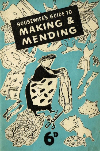 Vintage 1940s wartime Housewifes guide to making & mending sewing ebooklet on CD