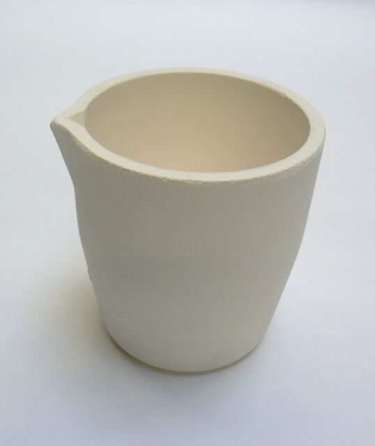 MELTING CRUCIBLE CERAMIC TORCH & FURNACE MELT SCRAP GOLD CUP TYPE 150 Toz ITALY
