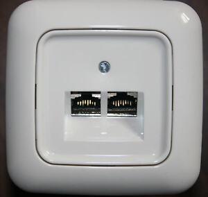 cat6 netzwerkdose busch j ger abdeckung bj reflex si rahmen cat 6 netzwerk ebay. Black Bedroom Furniture Sets. Home Design Ideas