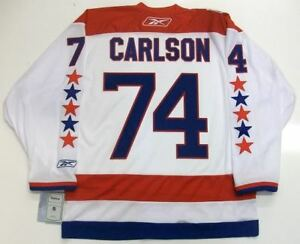 low priced b8ed9 8a58f Details about JOHN CARLSON WASHINGTON CAPITALS 2011 RBK PREMIER WINTER  CLASSIC JERSEY