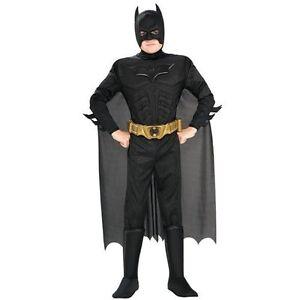 NWT-Halloween-Boys-Classic-Deluxe-BATMAN-Muscle-Chest-Costume-HUSKY-10-12
