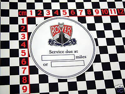 Rover Service Sticker - 70 90 110 105 P5B V8 3500 P6 P4