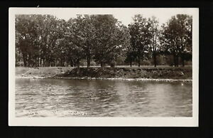 Alden-Iowa-IA-1915-RPPC-Old-Tourist-Camp-Grounds-River