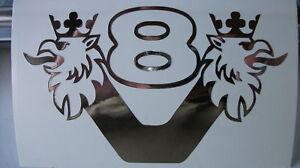 Greif-mit-V8-Emblem-Schriftzug-fuer-die-Rueckwand-in-Chrom-Folie-Aufkleber-in-1-32