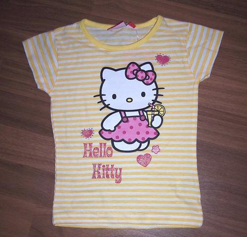 Hello Kitty T-Shirt gestreift gelb oder grün