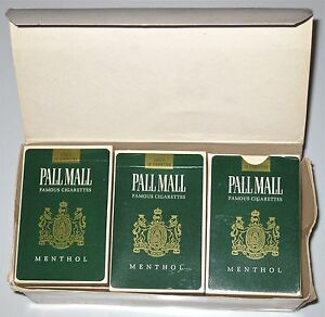Pall Mall Menthol Box of 12 Sets of Playing Cards NEW IN BOX